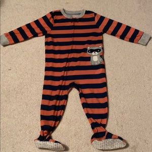 Carter's cotton striped footie pajamas